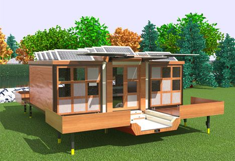 A look at the futuristic design of Mehdi Hidari Badie's Flat-Pack House on Wheels, a throwback to the original flat pack homes of the 1950's but modern!