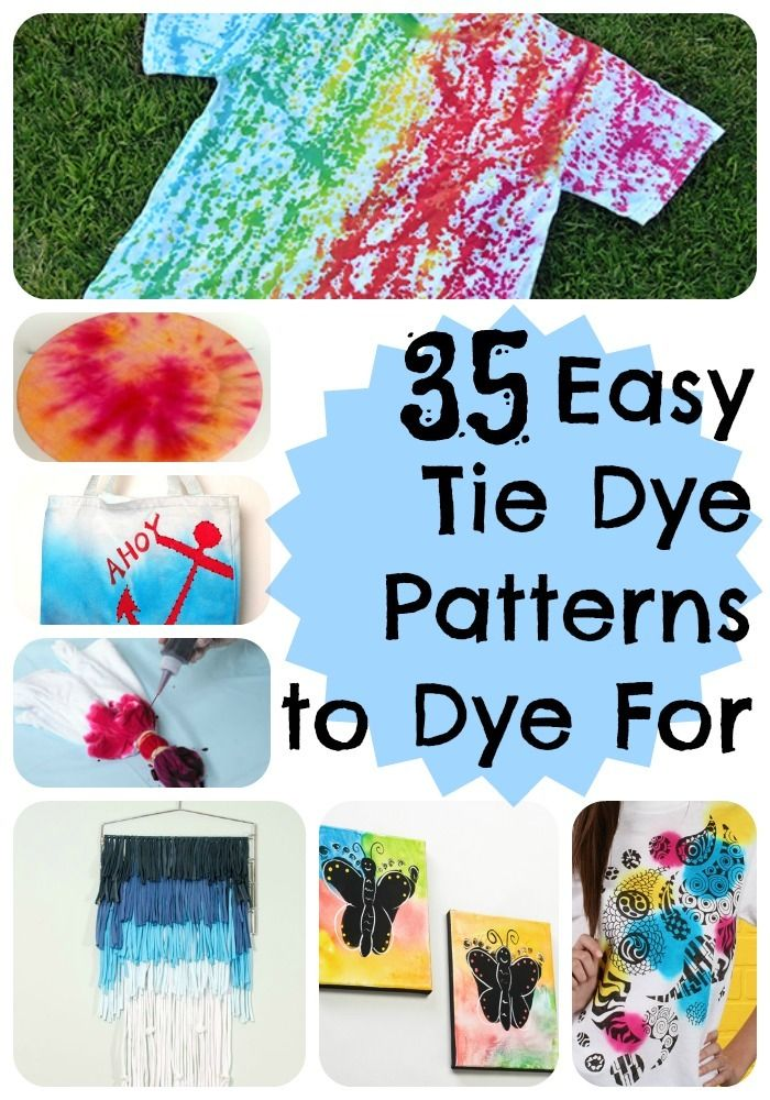 This summer, try out these 35 Easy Tie Dye Patterns to Dye For by yourself or with your kids because you have so many options for DIY tie dye fun. You can find out how to tie dye just about anything from this selection of cool tie dye patterns.