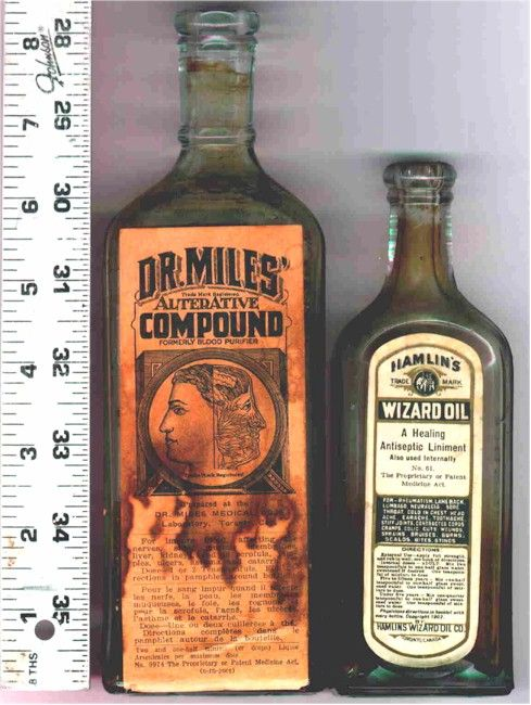 medicine bottle labels @Georgina ♥ Kilbride. We have a dr miles bottle that you found in the backyard.
