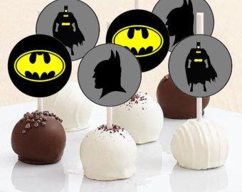 Batman Cake Pop Toppers - Batman Cake Pops - Batman Cupcake Toppers - Batman Cupcakes - Batman Party - Digital Print - Cake Pops - You Print