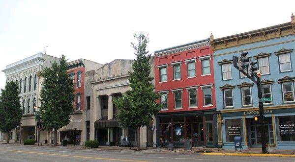 Downtown shops in Danville Kentucky