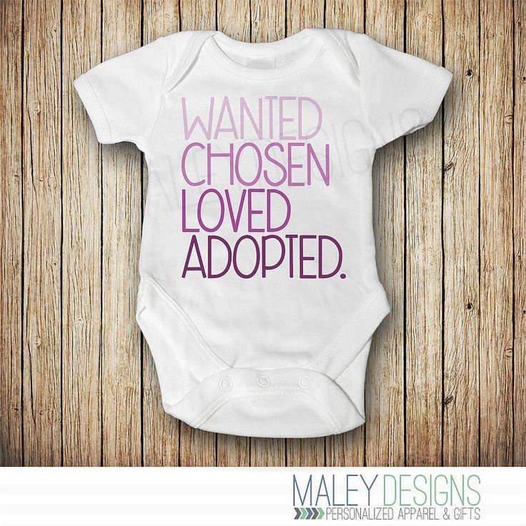 An Adoption Announcement Onesie