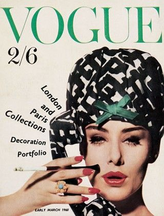 British Vogue March 1960. Photograher Claude Virgin