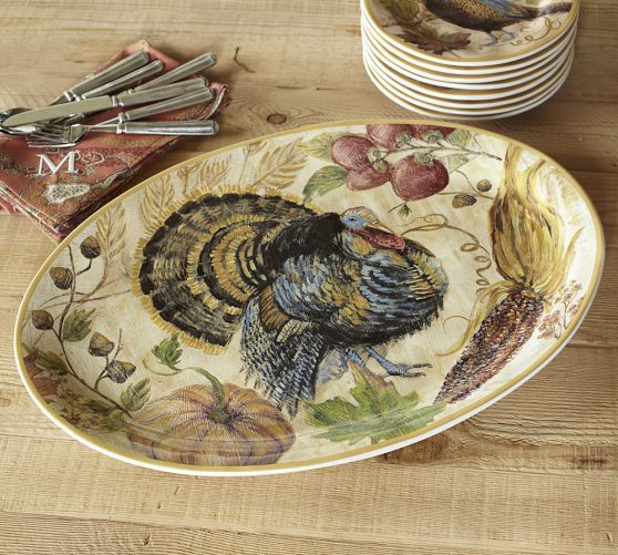 Holiday Gift Ideas from Table7 Events: www.table-seven.com Fresco Turkey Platter | Pottery Barn