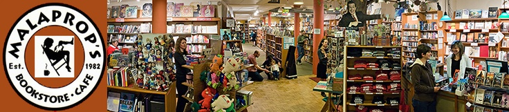 """Malaprops Bookstore & Cafe in Asheville NC - wonderful place to 'hangout"""" with books and people."""