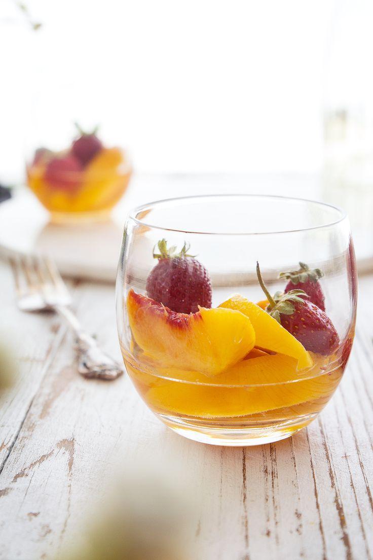 Peaches in Muscat Wine | HonestlyYUM