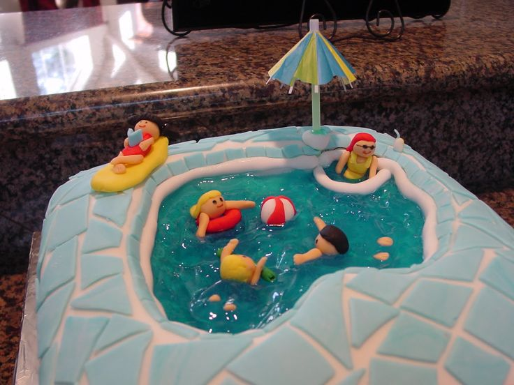 17 Best Images About Cakes For Swimming On Pinterest Swimming Pool Cakes Party Cakes And