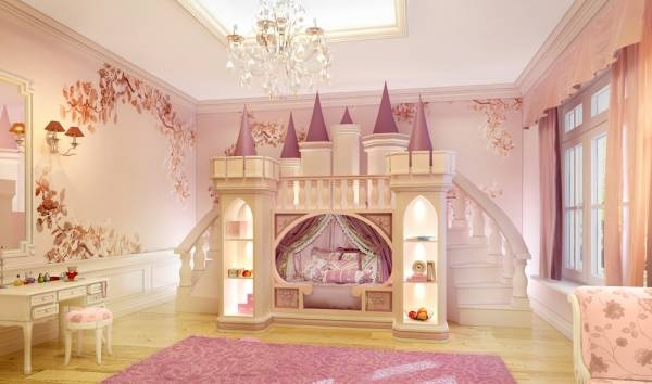 Incredible Little Princess Bedroom With A Pink Castle