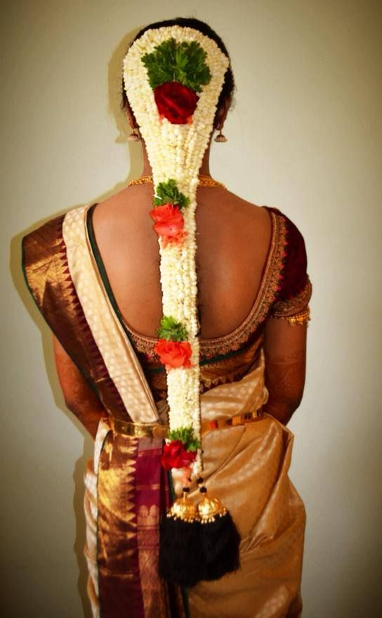 Traditional South Indian Brides Bridal Braid Hairstyle Indian Wedding Photography Hairstyle