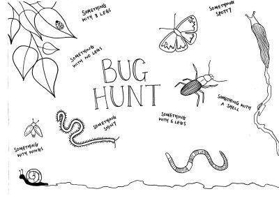 Free printable bug and nature scavenger hunts on the blog