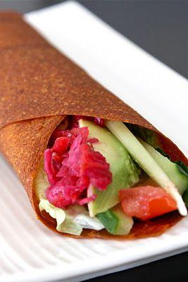 raw veggie wrap