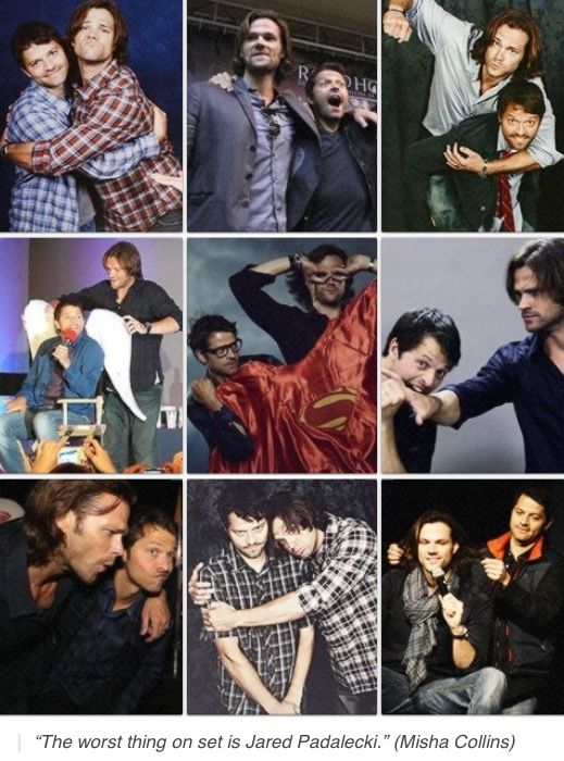 Jared Padalecki  Misha Collins