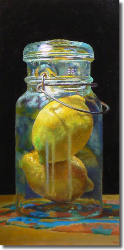 Jeffrey Hayes: Contemporary Still Life Paintings: Lemon Diptych
