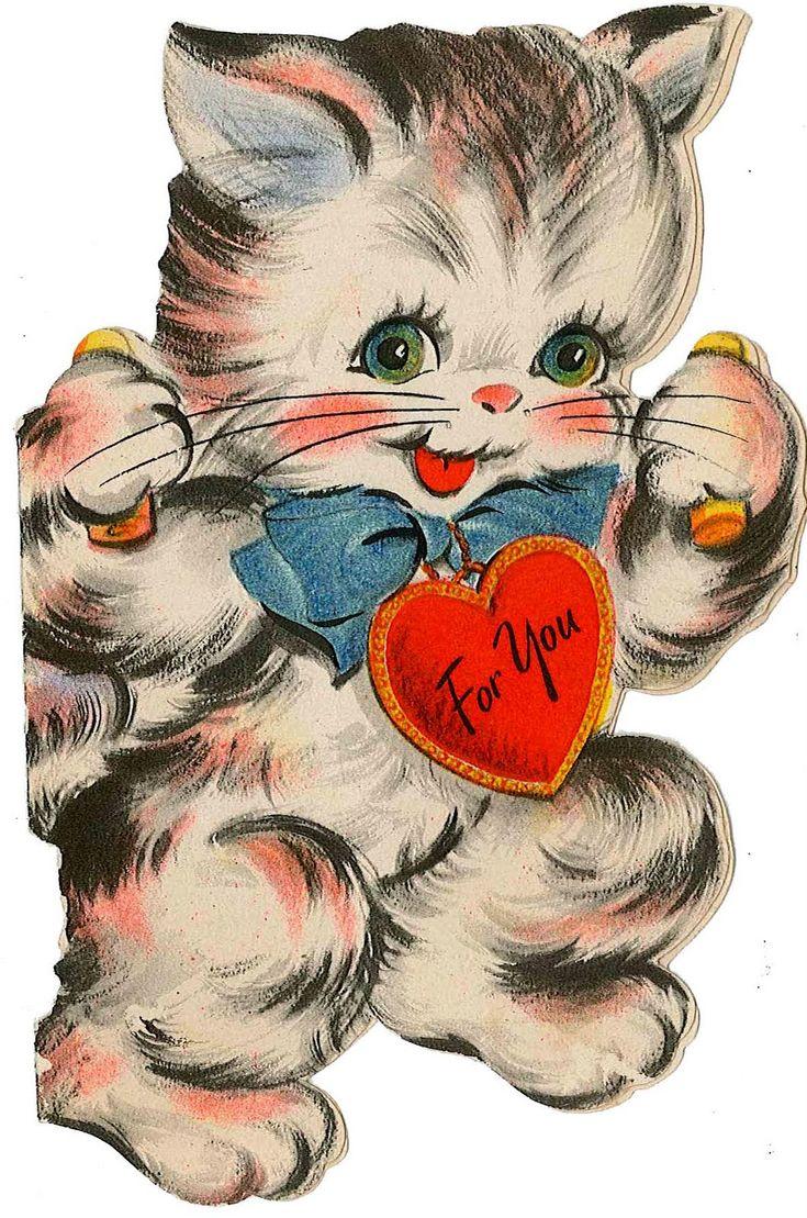 Лучшей, открытки кошки с днем святого валентина