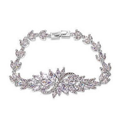 roxi swiss cz platina plating luxe bloem armband pijl hart cuting set sieraden voor koningin – EUR € 24.95