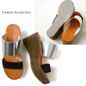 【楽天市場】FABIO RUSCONI ファビオルスコーニ DORA800/スエードウェッジサンダル【送料無料】:Crouka(クローカ)