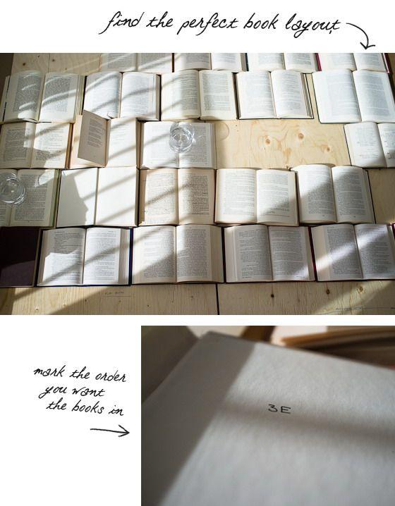 предварительно размещаем книги, укладывая на них сверху какой-нибудь пресс