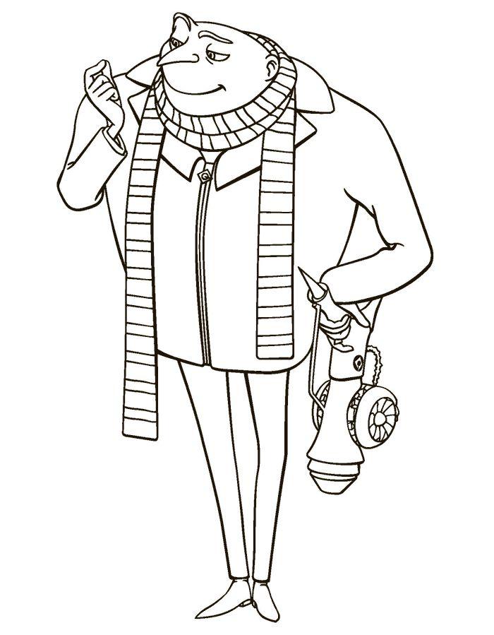 Dibujo de Gru (mi villano favorito) para colorear
