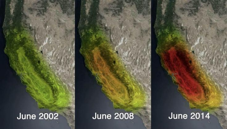 NASA images released this week show the severity of drought-stricken California's declining water shortage. http://www.nbcsandiego.com/news/local/NASA-GRACE-Satellite-California-Drought-Images-278013292.html