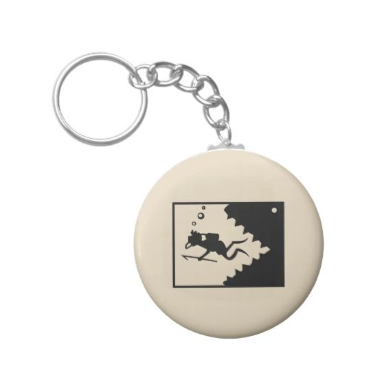 Fish eating diver keychain