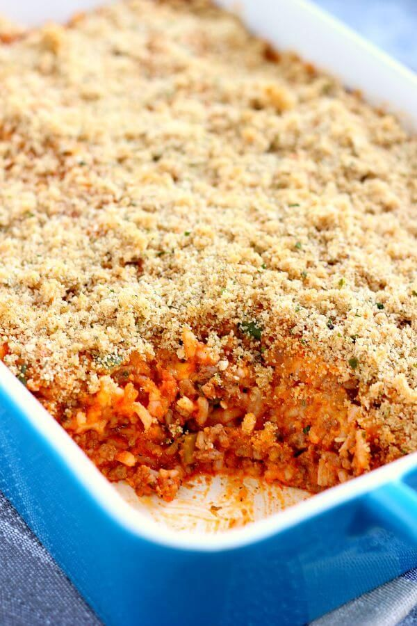 This Unstuffed Pepper Bake features the classic ingredients of stuffed peppers, but in casserole form. Jam-packed with ground beef, green peppers, rice, and spices, this dish take just 30 minutes from start to finish!
