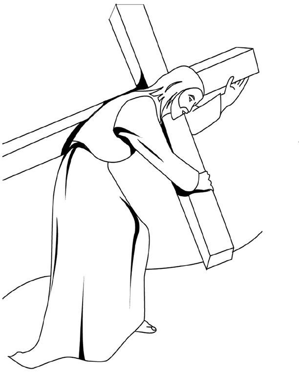 Jesus Cross Coloring Page Cross Coloring Page Jesus On The Cross Coloring Pages