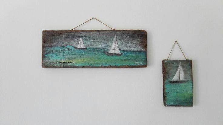 obrazki żeglarskie, obrazki na starych deskach, obrazki marynistyczne