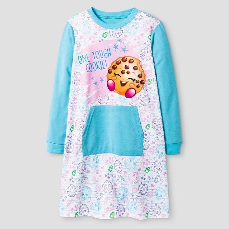 Girls' Shopkins Nightgown - Blue M (7-8), Girl's
