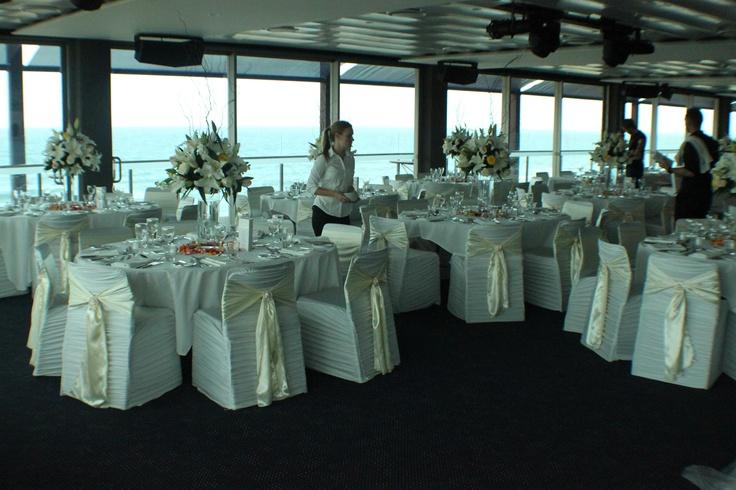 #wedding #weddingreception #satinsash #floralarrangements