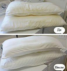 Как и чем стирать подушки (с синтетическим наполнителем).