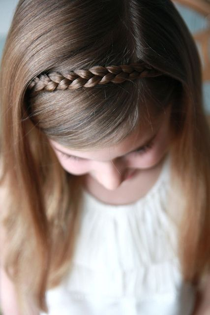 Sweet simple hair style for little girls - braid headband
