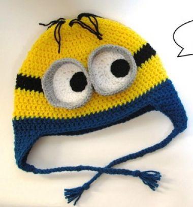 Crochet Minion hat (free crochet pattern) // Horgolt Minyon sapka (ingyenes horgolásminta) // Mindy - craft tutorial collection // #crafts #DIY #craftTutorial #tutorial