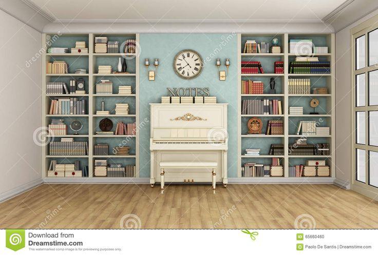 Salon Classique Avec Le Piano Droit Et La Bibliothèque - Télécharger parmi plus de 44 Millions des photos, d'images, des vecteurs et . Inscrivez-vous GRATUITEMENT aujourd'hui. Image: 65660460