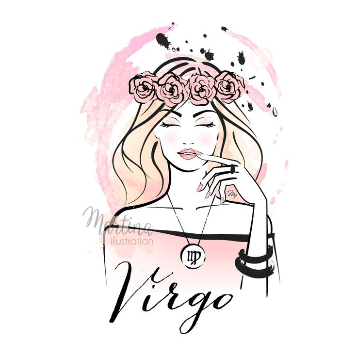 VIRGO horoscope zodiac sign fashion illustration