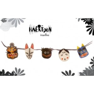 japanese masks , necklace