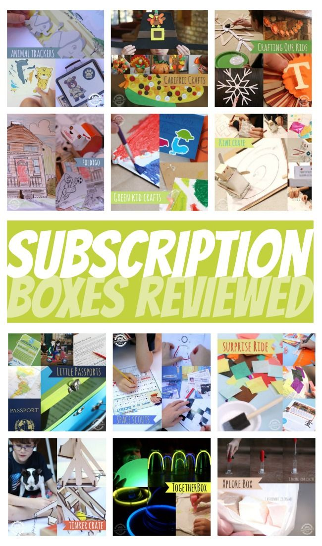 A bunch of Subscription Craft Boxes for Kids Compared - these are great last minute gifts because you can print off a certificate that they are on their way in the mail.