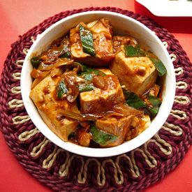 Try this easy and healthy Chinese vegetarian recipe: Chinese Tofu with Leeks and Chilli Bean sauce.