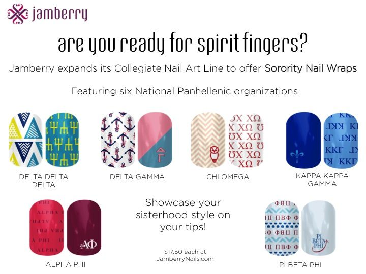 NEW Sorority Nail Wraps from @Jamberry Nails available today on www.JamberryNails.com