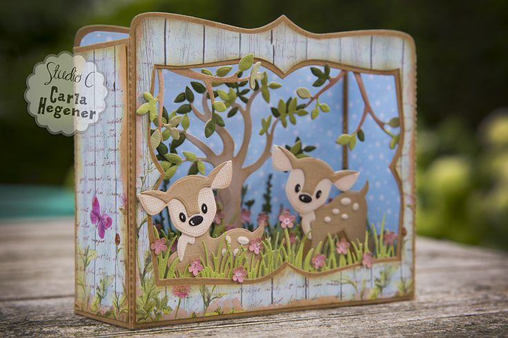 Shadow Box - Box Card. Marianne Design Eline's Deer: COL1401 Marianne Design Box…