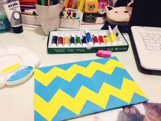 zigzag on canvas (?)
