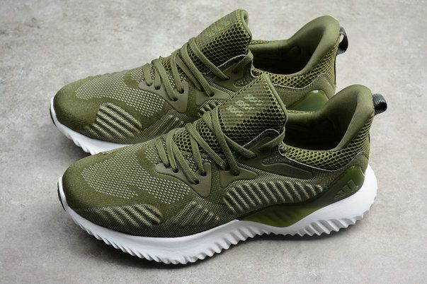 79a529727 2018 New Newest Adidas Alphabounce HPC AMS 3M Jungle Green White BW1247 Shoe