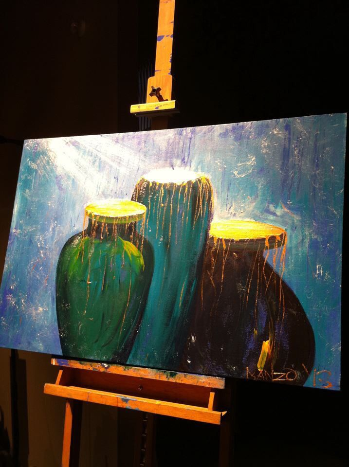 """Abundant Overflow"" Painted live in 30 mins worship at DaySpring Church, Sydney, Bill Johnson conference 2013. #wendymanzo #propheticart #worshipart #liveart #speedpainting #billjohnson"