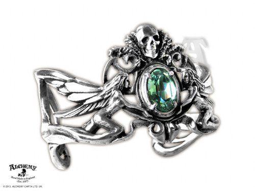 Esta bella pulsera de aire vintage y romántico, con cristales de Swarovski, se inspira en la obra del poeta parisino: romántico, gótico y visionario.
