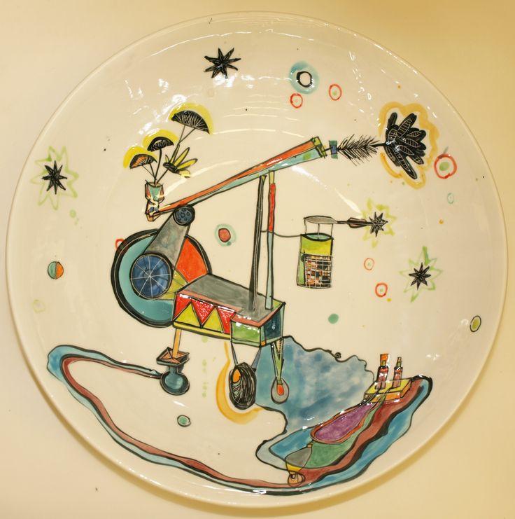 Vanessa Anastasopoulou, ''Hudini&co',  36X10cm, ceramic bowl