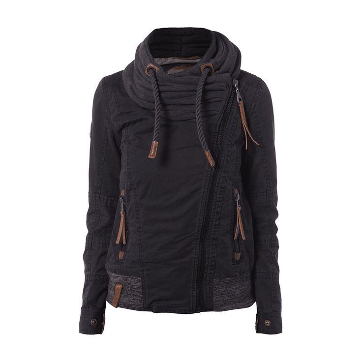 #Naketano #Damen #Jacke mit #breitem #Sweatkragen - Damen Jacke von Naketano…