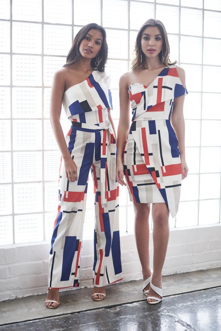 Cold Shoulder Mini Dress and One Shoulder Cape Jumpsuit