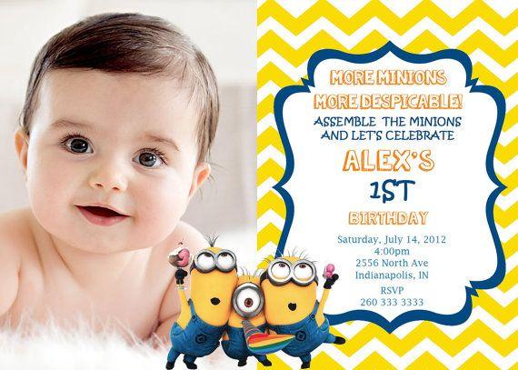 75 best Invitaciones Minions images on Pinterest Minion
