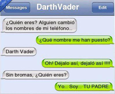 Mensaje de texto de Darth Vader