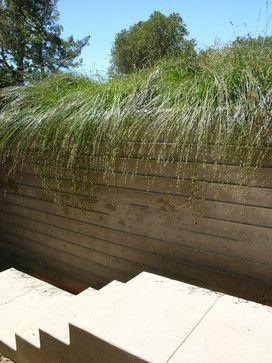 board-formed concrete planter