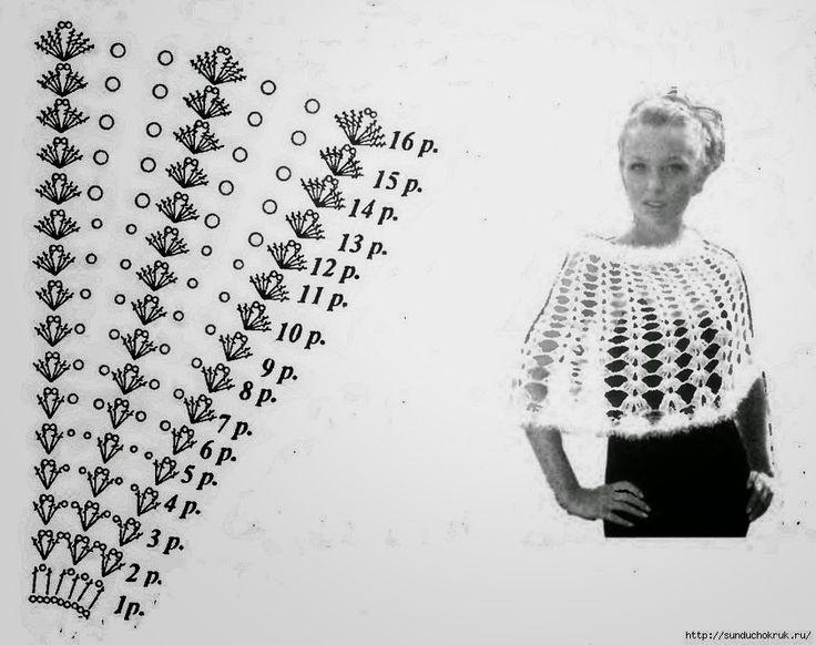 95 best capas tejidas con gancho images on Pinterest | Crochet ...